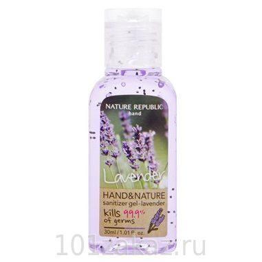 Nаture Rеpubliк Hand and Nature Sanitizer Gel Lavender гель-антисептик для рук с экстрактом лаванды, 30 мл