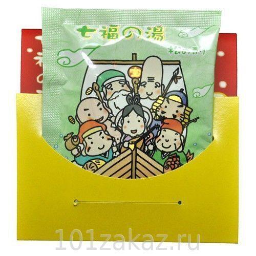 MAX BATH SALT SHITIFUKUNOYU соль для ванны Горячий источник с ароматом сосны, 25 г х 1 шт