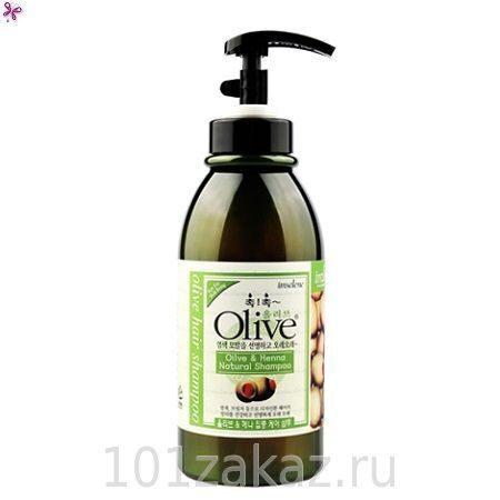 Olive & Henna Natural Shampoo увлажняющий и восстанавливающий шампунь для волос с экстрактом оливы и хны, 750 г