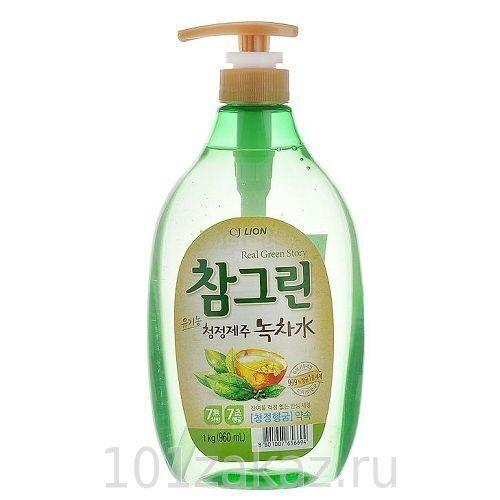 """Средство для мытья посуды, фруктов и овощей CJ Lion Chamgreen """"Зеленый чай"""", 960 мл"""