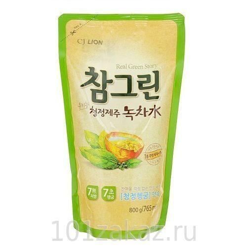 """Средство для мытья посуды, фруктов и овощей CJ Lion Chamgreen """"Зеленый чай"""", 765 мл"""