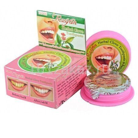 ISME Rasyan Herbal Clove Toothpaste отбеливающая зубная паста с гвоздикой и травами, 25 г