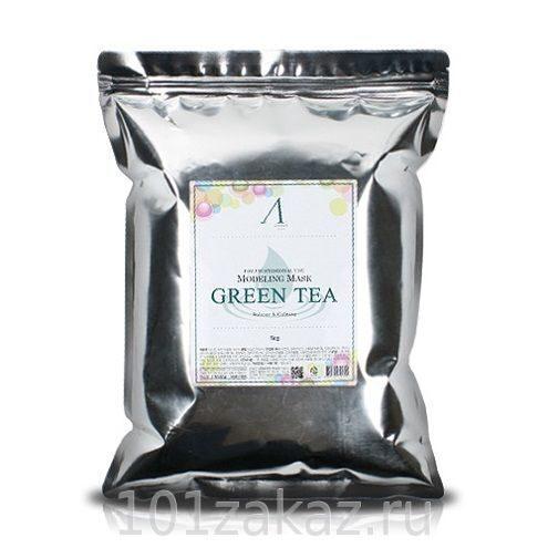Anskin Modeling Mask Green Tea For Balance & Calming альгинатная маска успокаивающая и антиоксидантная с экстрактом зеленого чая, 1