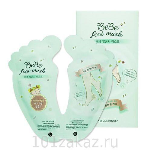 Etude House Bebe Foot Mask пилинг-носочки для ног, 1 пара