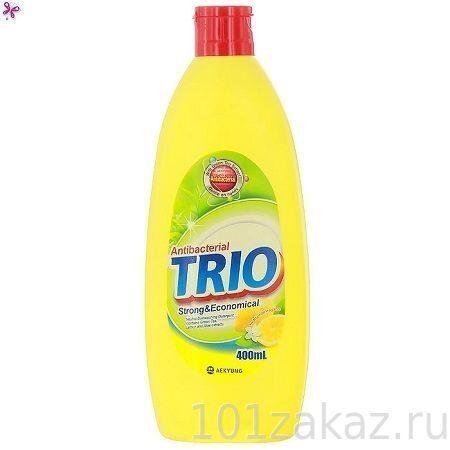 """Средство для мытья посуды ТРИО Антибактериальное """"Trio Antibacterial"""", 400 мл"""