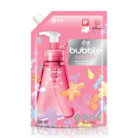 Пенка для мытья посуды, фруктов и овощей СУНСЭМ Ягоды Soonsaem Bubble Berry Pink, 1000 мл