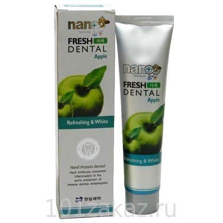 Зубная паста Hanil Fresh Dental Apple Свежее дыхание Яблоко с серебром, 160 г