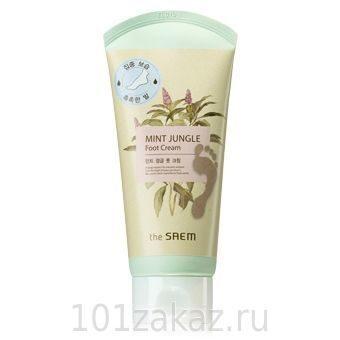Крем для ног мятный освежающий the SAEM Mint Jungle Foot Cream, 120 мл