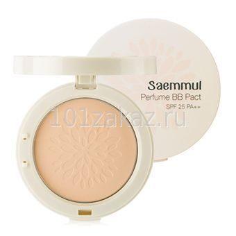 Компактная ароматизированная ББ пудра The Saem Saemmul Perfume BB Pact SPF25 PA++ (23. Cover Beige), 20 г
