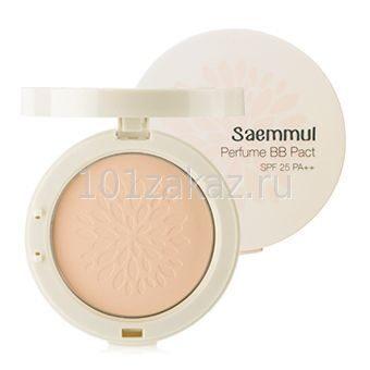 Компактная ароматизированная ББ пудра The Saem Saemmul Perfume BB Pact SPF25 PA++ (21. Pink Beige), 20 г