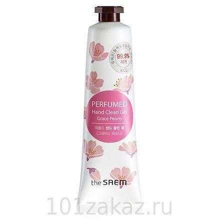 The SAEM Perfumed Hand Clean Gel Grace Peony очищающий парфюмированный гель для рук Бархатный пион, 30 мл