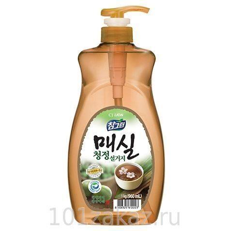 """Средство для мытья посуды, фруктов и овощей CJ Lion Chamgreen """"Японский абрикос"""", 960 мл"""
