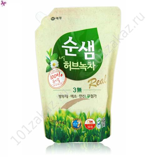 """Средство для мытья посуды СУНСЭМ Зеленый чай """"Green Tea"""", 1400 мл"""