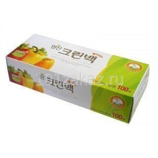Пакеты полиэтиленовые пищевые в коробке MYUNGJIN BAGS Tissue type 25см*35см, 100 шт