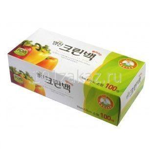 Пакеты полиэтиленовые пищевые в коробке MYUNGJIN BAGS Tissue type 17см*25см, 100 шт