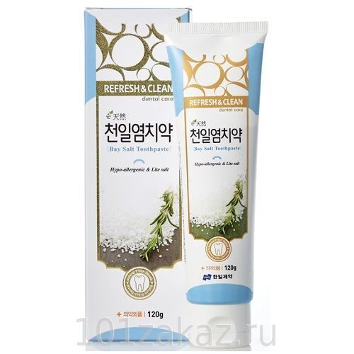 Hanil Bay Salt Toothpaste Hypo-allergenic & Lite salt зубная паста для чувствительных зубов с морской солью, 120 г