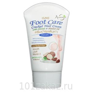ISME Foot Care Cracked Heel Cream крем для сухой кожи ног с маслом кокоса и миндаля, 80 г