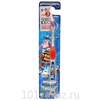 Зубная щетка для мальчиков Perioe Robocar Poli с мягкой щетиной, от 6 до 9 лет