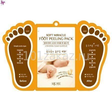 MJ Care Soft Miracle Foot Peeling Pack пилинг-носочки для ног, 1 пара