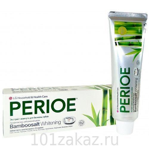 Зубная паста LG Bamboo salt Бамбуковая соль и экстракт жемчуга, 120 г