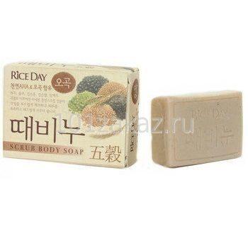 Мыло-скраб для тела CJ Lion Rice Day Scrub Body Soap Пять злаков, 100 г