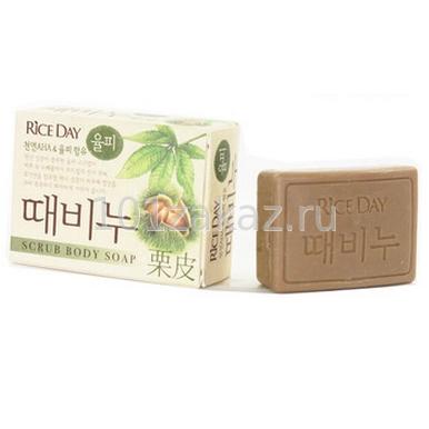 Мыло-скраб для тела CJ Lion Rice Day Scrub Body Soap Земляной орех, 100 г
