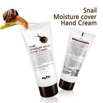 Увлажняющий крем для рук myPu: Snail Moisture cover Hand Cream с экстрактом слизи улитки, 80 мл