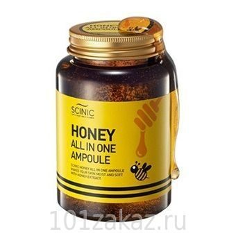 SCINIC Honey All in One Ampoule сыворотка для лица с экстрактом мёда 90%, 250 мл