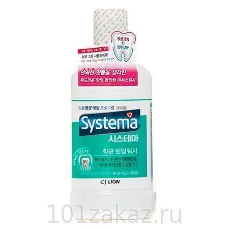 Ополаскиватель полости рта CJ Lion Dentor Systema Mild Fresh мягкая свежесть, 250 мл