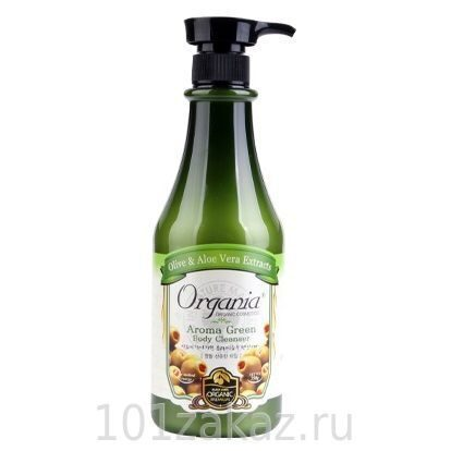 Гель для душа White Organia Aroma Green Body Cleanser с алоэ и зеленым чаем, 750 мл