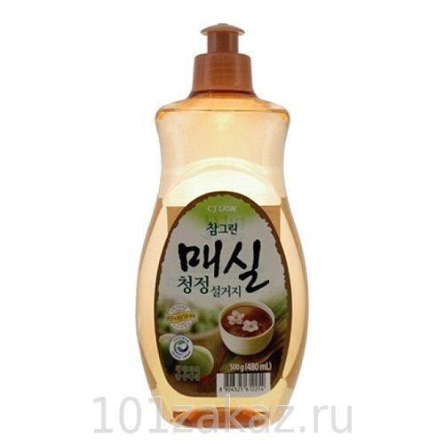 """Средство для мытья посуды, фруктов и овощей CJ Lion Chamgreen """"Японский абрикос"""", 480 мл"""