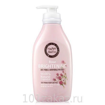 Happy Bath Natural Rose Brightening нежный гель для душа с экстрактом розы, 500 г