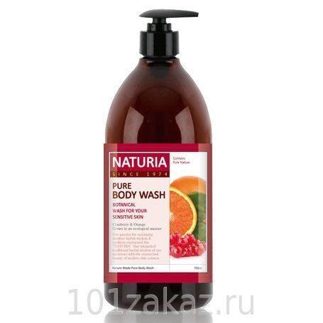 EVAS Naturia Pure Body Wash Cranberry & Orange гель для душа клюква и апельсин, 750 мл