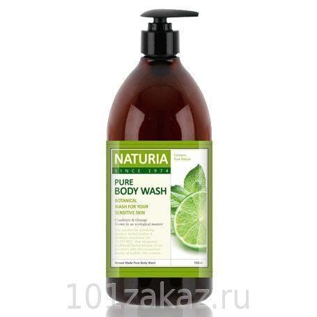 EVAS Naturia Pure Body Wash Wild Mint & Lime гель для душа дикая мята и лайм, 750 мл