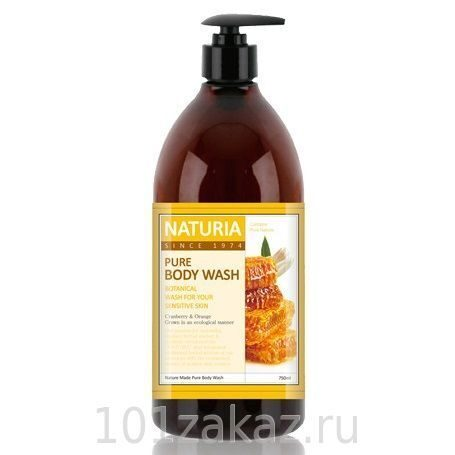 EVAS Naturia Pure Body Wash Honey & White Lily гель для душа мед и белая лилия, 750 мл