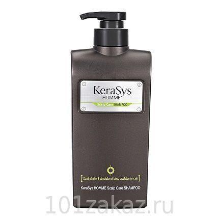 KeraSys Homme Scalp Care Shampoo мужской шампунь для лечения кожи головы, 550 мл