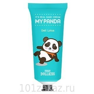 Baviphat Urban Dollkiss It's Real My Panda Hand Cream #04 Deli Lotus крем для рук с экстрактом лотоса, 30 г