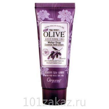 Organia Olive Water Drop Essence Hand Cream увлажняющий крем для рук и кутикулы с маслом оливы, 50 г