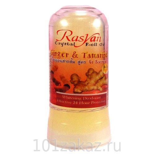 ISME Rasyan Crystal Roll On Ginger & Tamarind дезодорант-кристалл для тела с имбирем и тамарином, 80 г