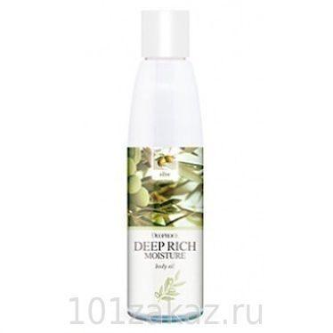 Deoproce Deep Rich Moisture Body Oil Olive увлажняющее масло для тела Олива, 215 мл