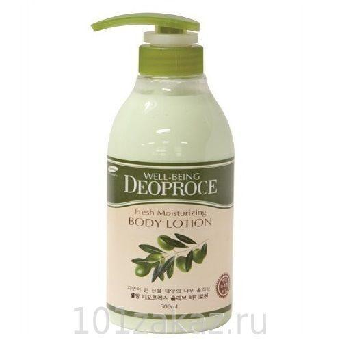 Deoproce Well-Being Fresh Moisturizing Body Lotion увлажняющий лосьон для тела с маслом оливы, 500 мл