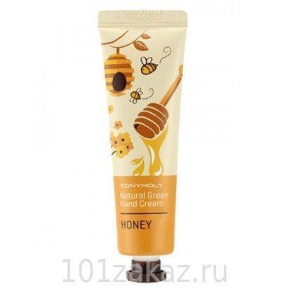 Tony Moly Natural Green Hand Cream Honey крем для рук с экстрактом меда, 30 мл