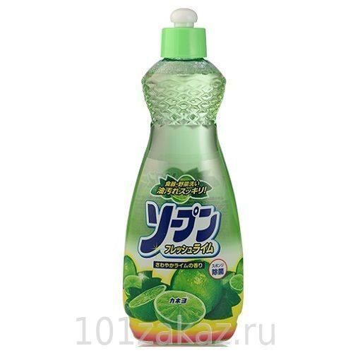 Kaneyo жидкость для мытья посуды, овощей и фруктов Свежий лайм, 600 мл