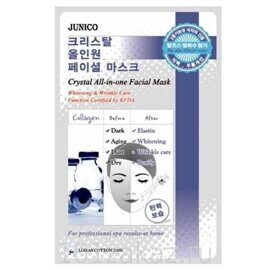 Mijin Junico Crystal All-in-one Facial Mask Collagen маска тканевая для лица с коллагеном, 1 шт