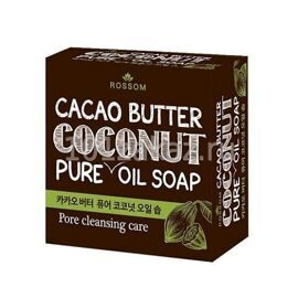 Mukunghwa Rossom Cacao Butter Pure Coconut Oil Soap мыло из 100% масла кокоса с добавлением какао масла, 100 г