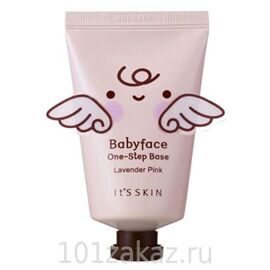 It's Skin Baby Face One-Step Base Lavender Pink база под макияж лавандово-розовая, 35 мл