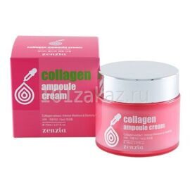 Zenzia Collagen Ampoule Cream крем для лица с коллагеном, 70 мл