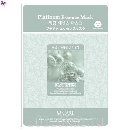 MJ Care Platinum Essence Mask маска для лица с платиной, 1 шт