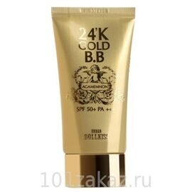Baviphat Urban Dollkiss Agamemnon 24K Gold BB Cream #21 Light Beige SPF50+ PA++ ББ крем с 24K золотом, 50 мл