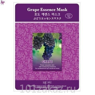 MJ Care Grape Essence Mask маска для лица с экстрактом винограда, 1 шт